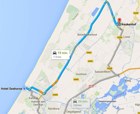 Route Seahorse/Keukenhof