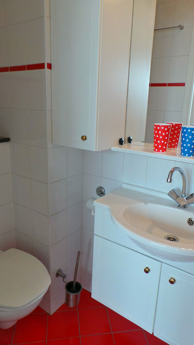 douche/toilet in kamer B&B Seahorse
