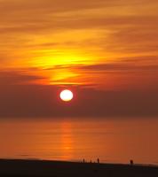 zonsondergang bij Hotel B&B Seahorse