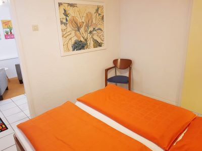 slaapkamer zomerhuis in B&B Seahorse